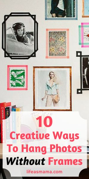 Ever look around your home and all you see are picture frames on the walls? Whether its for hanging art, posters, or personal pictures, putting them all in frames over and over again can get a little old, repetitive, and boring. There are so many fun and creative ways to hang photos nowadays without using frames. Try one of these 10 creative and fun ways to hang photos in your home without putting them in a frame!