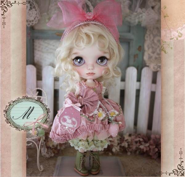 ** Milk Tea ** custom Blythe * Baby strawberry-chan * - Auction - Rinkya! Japan Auction & Shopping