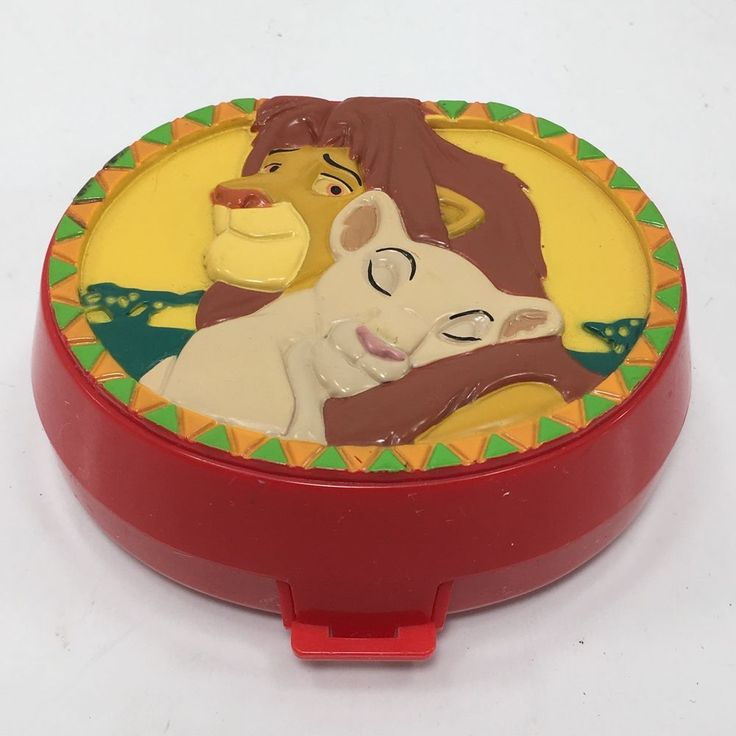 1996 Polly Pocket Lion King Compact Bluebird Disney 2 Characters 02 | eBay