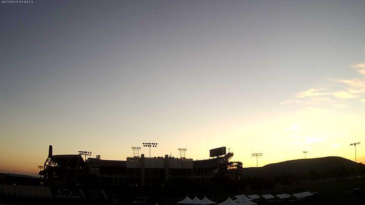 PSU Football Wx @PSUFootballWx    Penn State Beaver Stadium at sunrise and it's 47.8 F