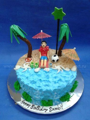 Торт Отдых на пляже