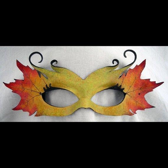 autumn maple faerie mask by wingandtalon on Etsy, $75.00