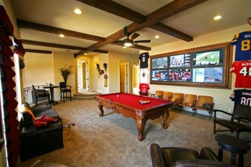 Man Cave Pool Room : Images about billiards pool table man cave decor