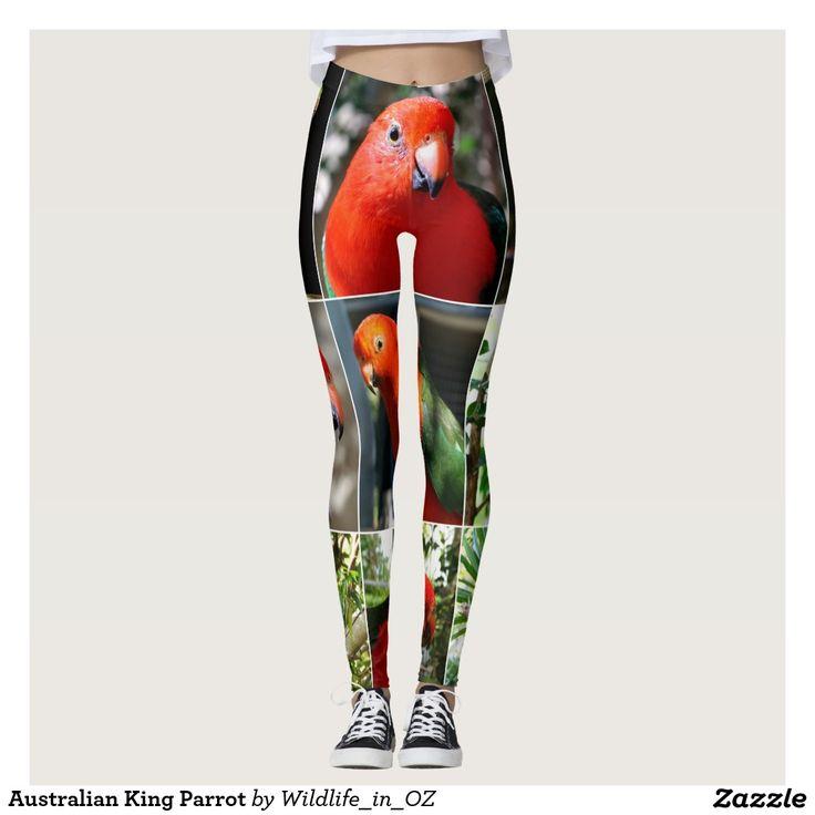 Australain King Parrot Leggings. Aussie Wildlife Leggings. Click on photo to view item then click on item to see how to purchase that item. #leggings #activewear #rosella #easternrosella #koala #koalabear #wildlife #australianwildlife #zazzle #lorikeet #rainbowlorikeet #indianringneck #cockatoo #sulphurcrestedcockatoo #kingparrot #kookaburra