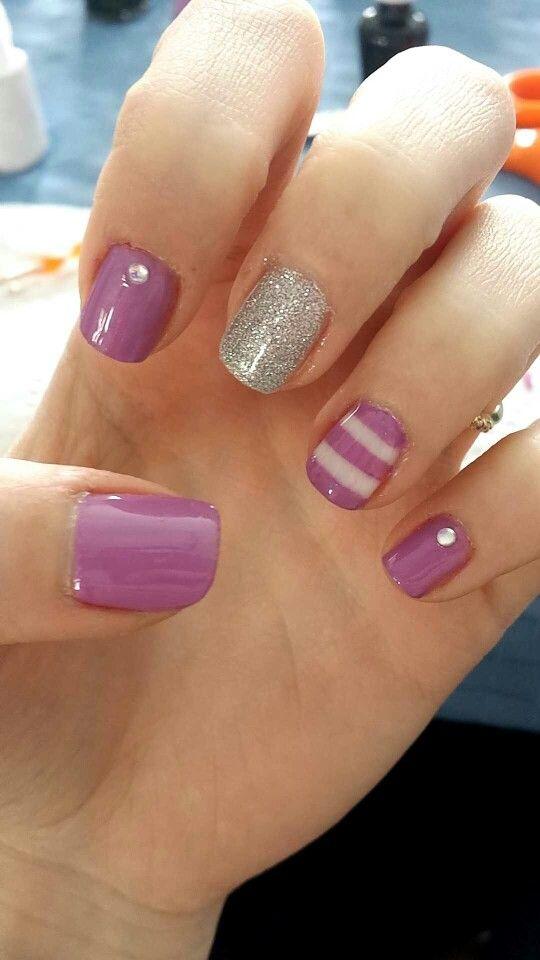 Purple gel nail.