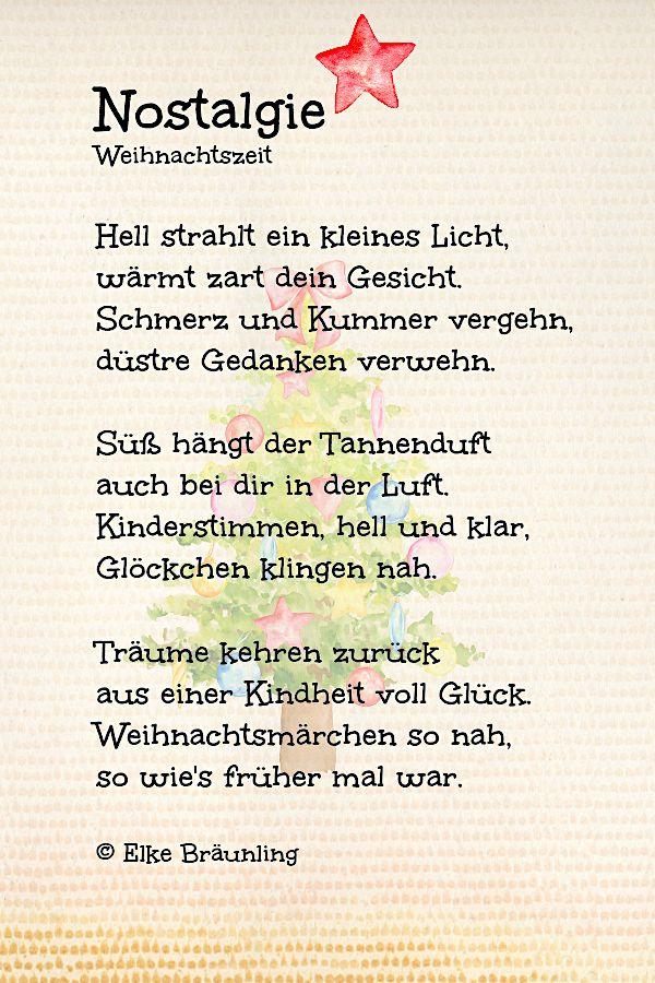 Weihnachtszeit Nostalgie Winterzeit Gedichte Zum Advent Weihnachten Nostalgie Gedicht Weihnachten