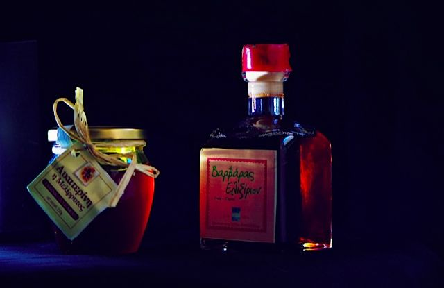 Greek bio honey & Greek bio cranberry liqueur, pure & perfect, from Thessaloniki, Greece