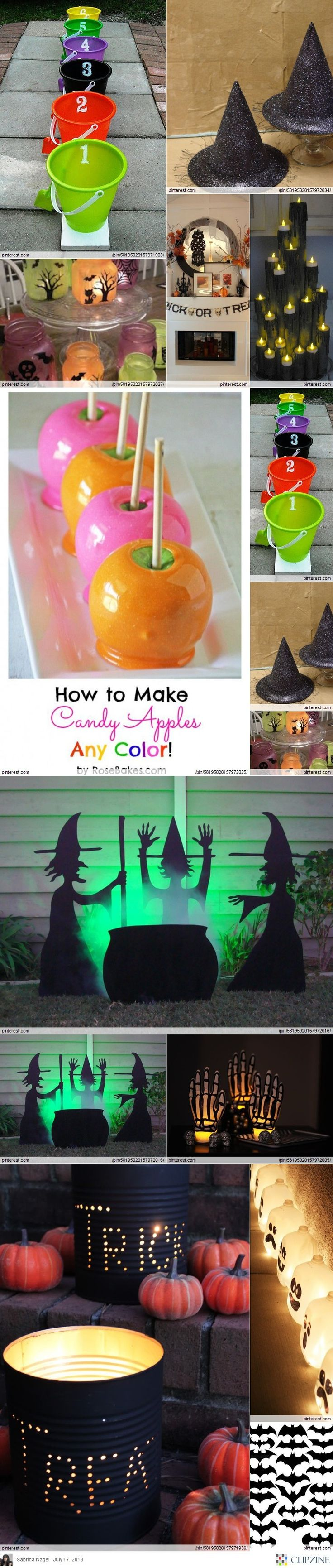 Fall / Halloween Ideas & food..like the black tin trick or treat cans