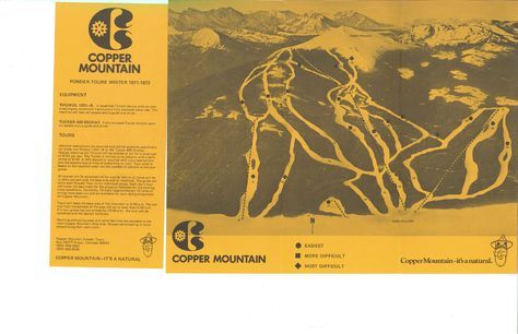 1971-1972 Downhill (thanks to S. Becker) (published in 1971) at Copper Mountain Resort