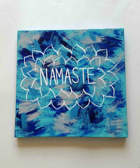 Bohemian Namaste acrylic canvas painting for bedroom by StarrJoy16Best 10  Bohemian painting ideas on Pinterest   Painting rugs  . Painting For Bedroom. Home Design Ideas