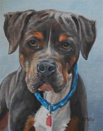 "Daily Paintworks - ""Ike"" - Original Fine Art for Sale - © Beverley Phillips"
