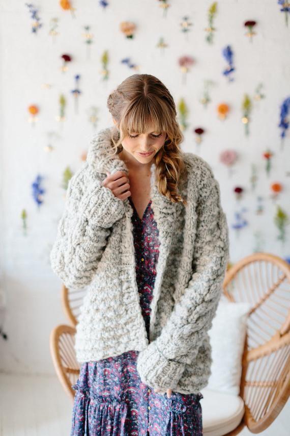 b350a2fdf PATTERN    Knit Cardigan Pattern Knit Sweater Pattern Cable