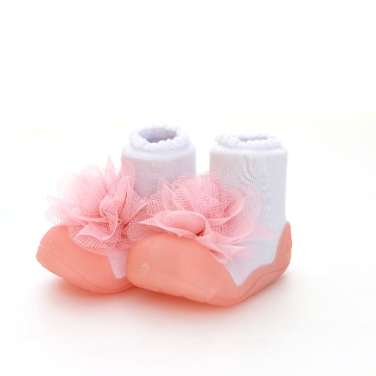 Attipas Pink Corsage Girls Shoes by Baby Strawberry