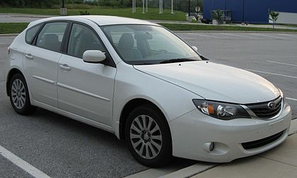 2008 Subaru Impreza 2.5i hatch front 2.jpg