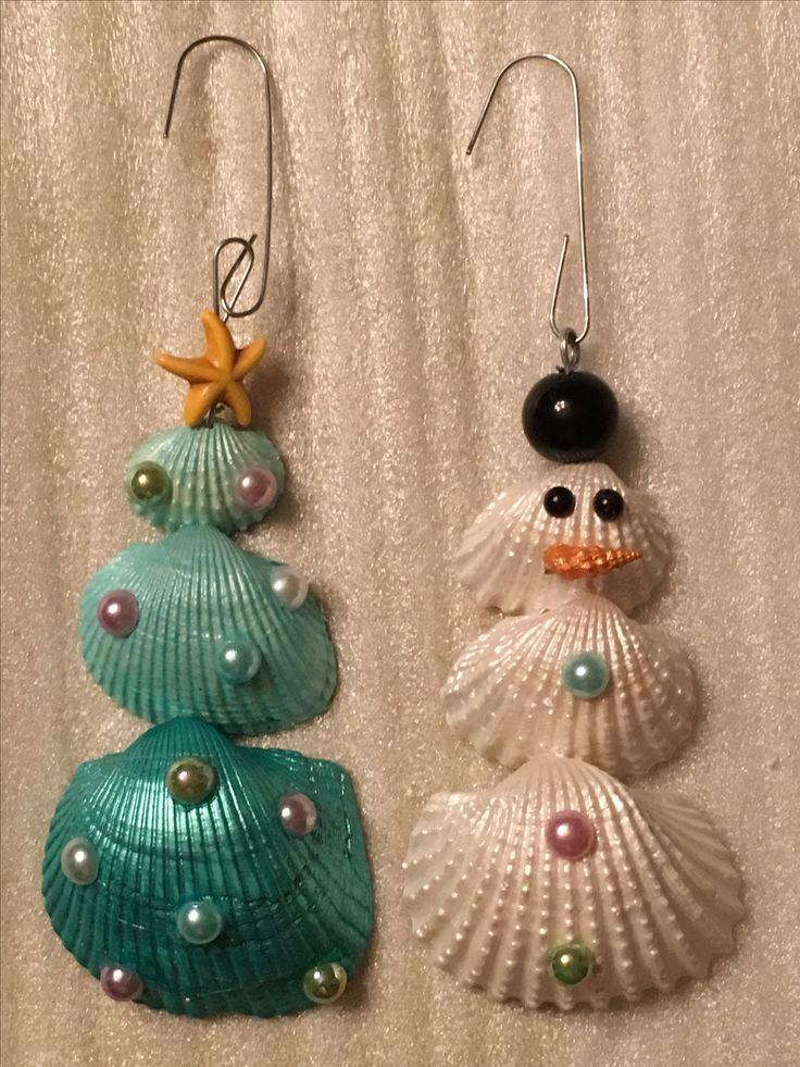 25 unique snowman tree topper ideas on pinterest for Seashell ornaments diy