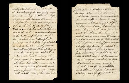 Ned Kelly's famous Jerilderie Letter. Read the full letter online here: http://www.slv.vic.gov.au/our-collections/treasures-curios/jerilderie-letter