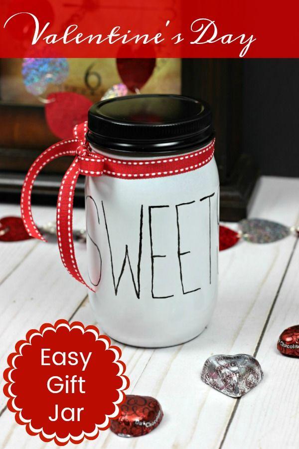 Rae Dunn Inspired Valentine Gift Jar
