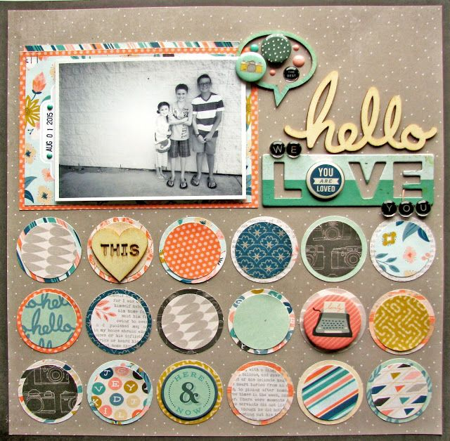 #papercrafting #scrapbook #layout - Nicole Nowosad: NEW Basic Grey - Typeset !