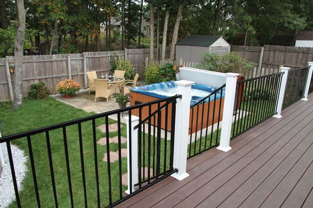 The standard materials used to develop deck rail systems include glass, iron/metal, vinyl, wood or combined resources to construct a diverse blend. Description from allaboutrailings.blogspot.com. I searched for this on bing.com/images