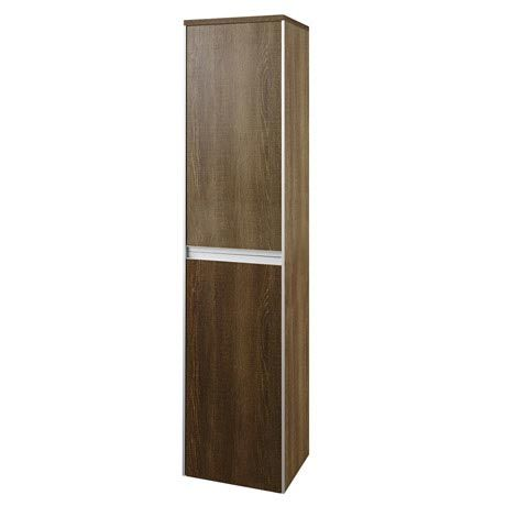 Cool Hudson Reed Erin Textured Oak Tall Side Cabinet CAB