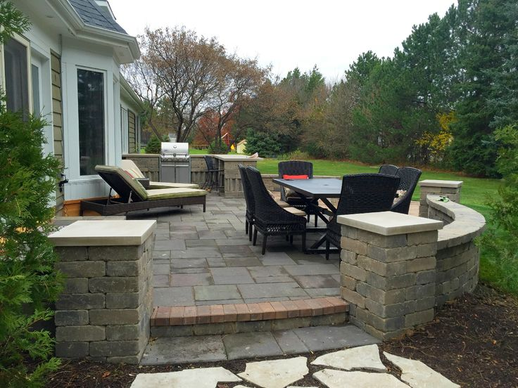 Patio With Outdoor Kitchen By Orland Park, IL Patio Builder