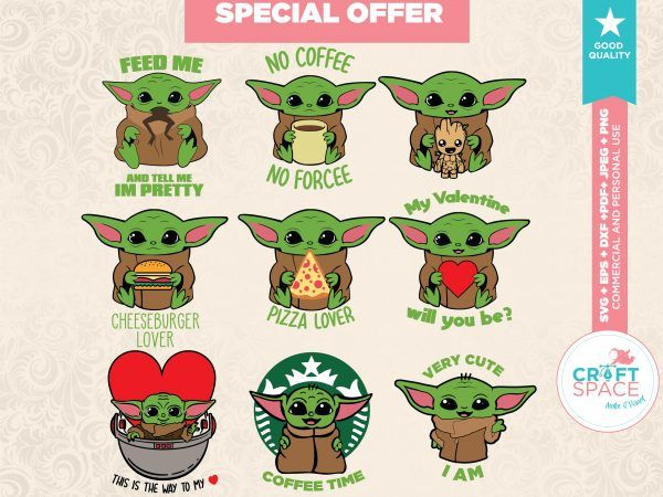 Download Baby yoda svg full layered bundle file in 2020 ...