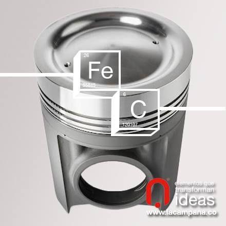 Los pistones en acero gracias a su poca expansión térmica, tienen menor fricción entre el pistón y la camisa del cilindro mejorando el rendimiento y resistencia. www.lacampana.co
