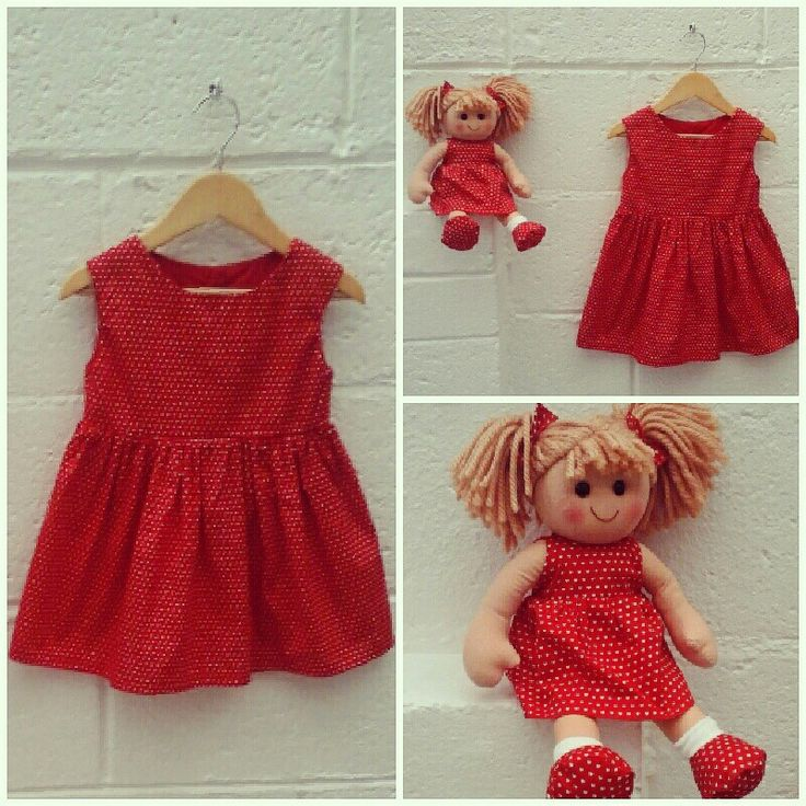 Little girls dress &matching doll @linzy_o #childrenswear #Christmas #toocute