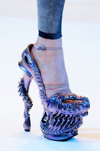 H.R. Giger inspired shoes