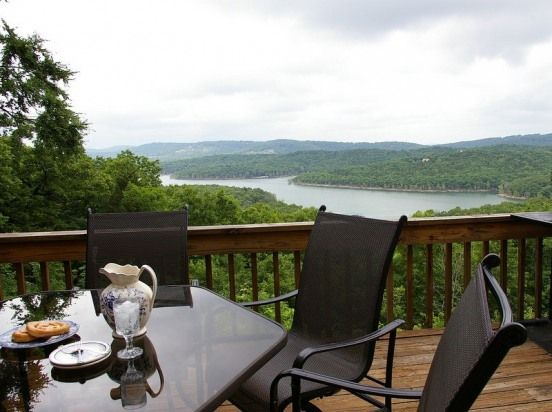 3 decks to enjoy the view in Branson Missouri. Great vacation rental!