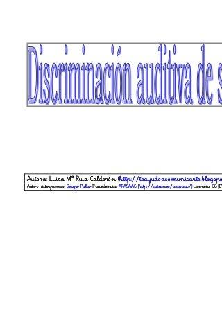Discriminación auditiva sinfones 2