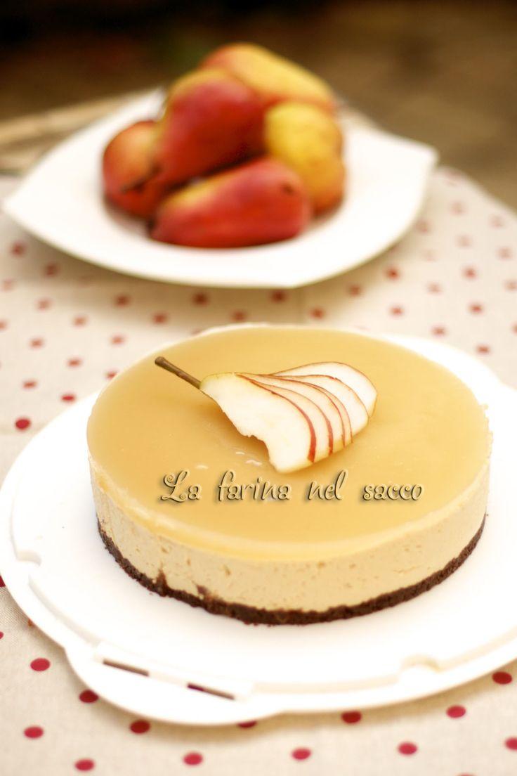 Cheesecake nocciole e pere