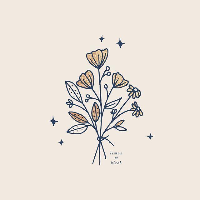 A little bouquet I created for @parfaitnotperfect   Botanical logo design | gold… – Victoria Lucas