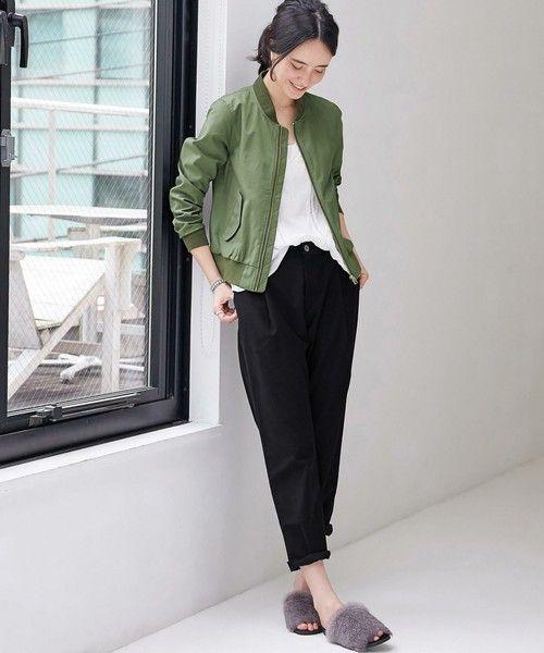 green label relaxing WOMENS(グリーンレーベルリラクシングウィメンズ)の[WEB限定]CB C/P HandWash MA-1ブルゾン(ブルゾン)|詳細画像