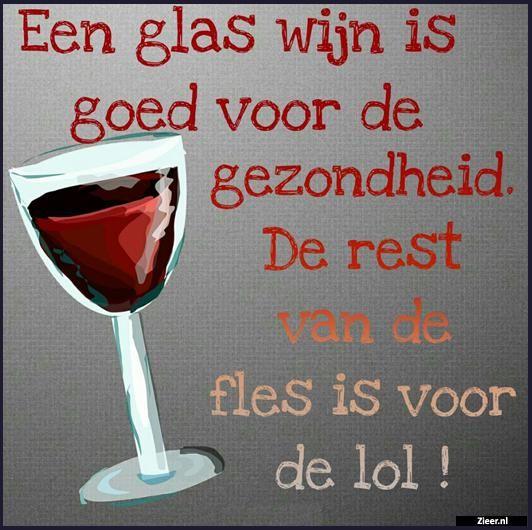 Een glas wijn..