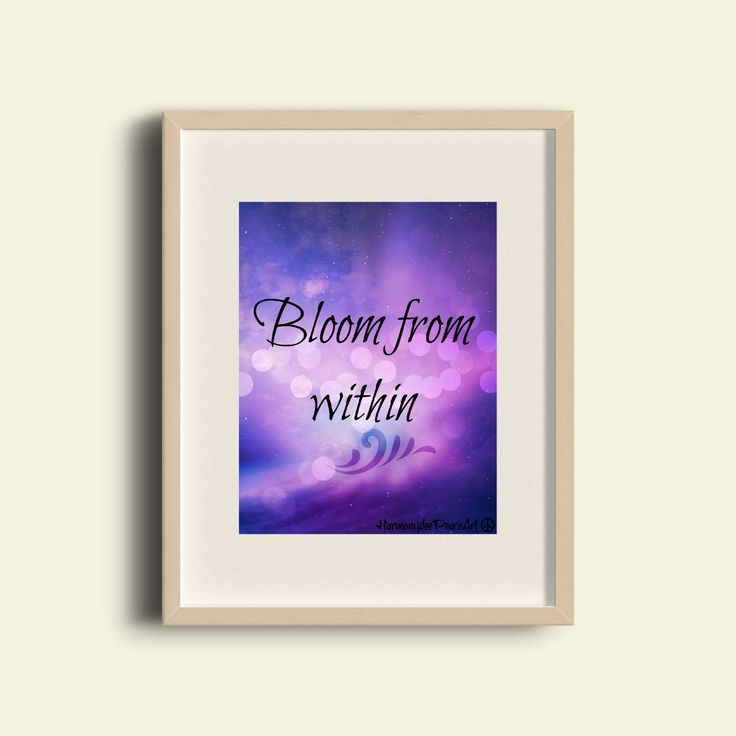 Printable Poster 8 x 10 BLOOM from Within by HarmonydeePeaceArt on Etsy