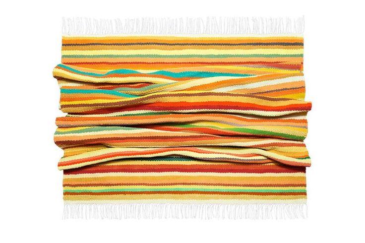 "Woven rug ""Mandarin happiness"". Nature inspires))) #babynakrasunia #woven #wovencarpet #rugs #carpet #natureencourages #colors #stripes #stylishcarpet #ecofriendlyfashion #handmade"