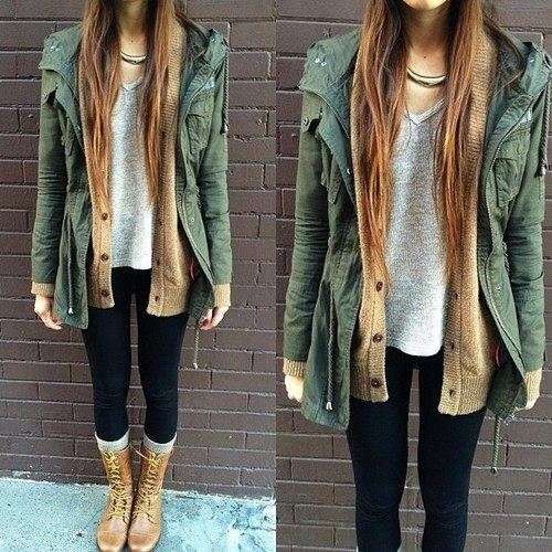 Casual winter fashion with long jacket. . . click on pic to see more