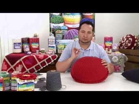 Crochetando com EuroRoma e Marcelo Nunes - Almofada Escama - YouTube