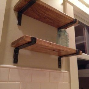 Industrial Style Metal Brackets To Hold Shelves Wood