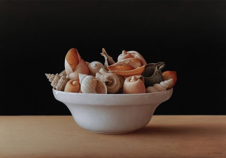 Seashells, 35 x 50 cm, oil on canvas