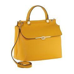Trendige Handtasche im Business-Look in Gelb von Cute Couture