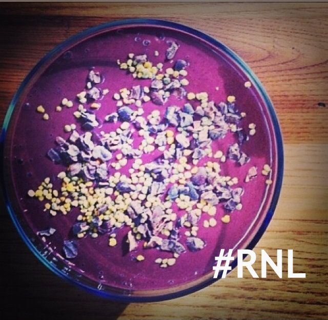 The Energizing Smoothie Everybody Loves - it doesn't look this purple but my daughter loves it.