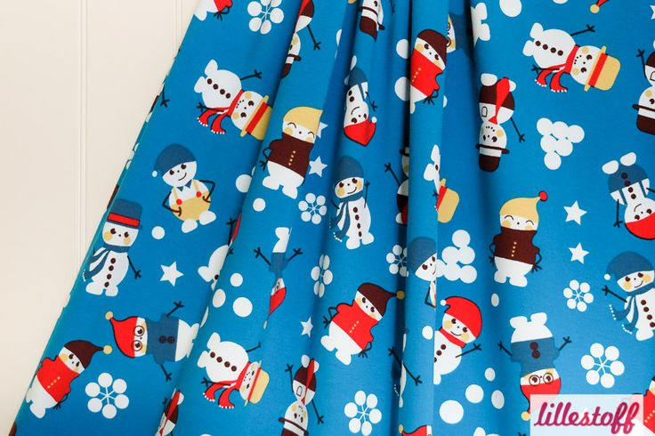lillestoff » Happy Snowman « // Design: Anna Boye // hier erhältlich: http://www.lillestoff.com/happysnowman-3195.html