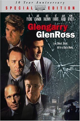 Glengarry Glenross. Written by David Mamet.  Starring Jack Lemmon, Kevin Spacey, Ed Harris, Alec Baldwin, Al Pacino. A ball-buster of a movie about Business.