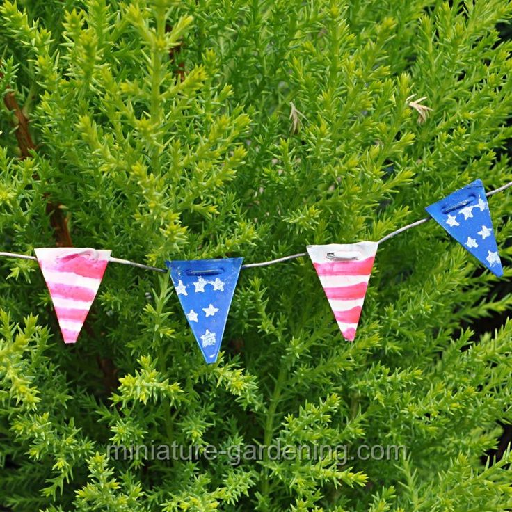 Flag Pennant, Stars And Stripes #MiniatureGardening #FairyGarden. Miniature  TreesMiniature FairiesMiniature Fairy GardensThe FlagGarden ...