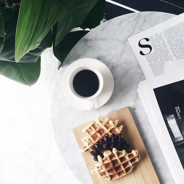 I got two things to say: Weekend Waffles!(No waffle emoji? I'm disappointed!) #flatlay #coffee