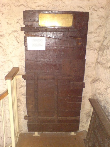 Thomas Cranmers Cell Door 	   Thomas Cranmer's Cell Door  (the Archbishop of Canterbury)- burnt at the stake in 1552.