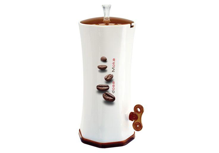 DOSA MOKA. Dosatore per Moka con regolatore di dosaggio per riempire la caffettiera con rapidità, precisione e pulizia. Il contenitore costantemente protetto dall'aria, mantiene inalterato l'aroma del caffè. #coffee #coffeelovers #caffè