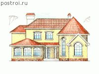Проекты домов с зимним садом № W-279-1K - вид спереди